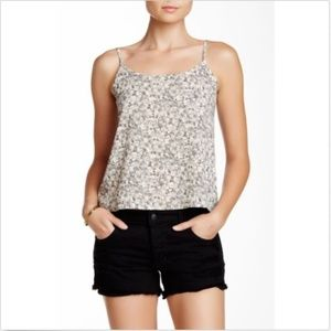 Wild Pearl Tank Top Floral Print Adjustable